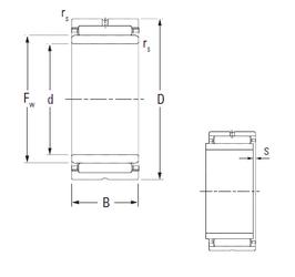 240 mm x 360 mm x 92 mm Brand KOYO NA6902 Needle Roller Bearings