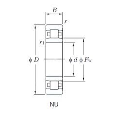 300,000 mm x 430,000 mm x 240,000 mm D KOYO NU2220 Cylindrical Roller Bearings