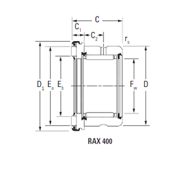 Outer Diameter (mm) KOYO RAX 420 Complex Bearings