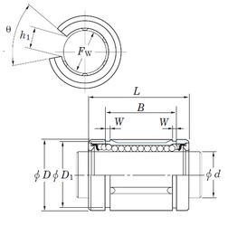 Outer Diameter (mm) KOYO SDM38OP Linear Bearings