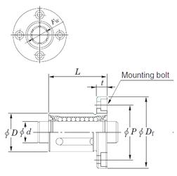Bore Diameter (mm) KOYO SDMF25MG Linear Bearings