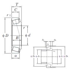 28,575 mm x 62 mm x 36,51 mm D KOYO T7FC065 Tapered Roller Bearings