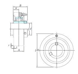 Dynamic load rating radial (C) KOYO UCC315 Bearing Units