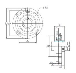 8 mm x 19 mm x 11 mm C KOYO UCFC209-28 Bearing Units