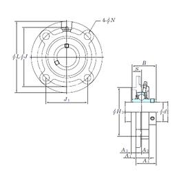 25 mm x 62 mm x 24 mm Basic dynamic load rating (C) KOYO UCFCX09E Bearing Units