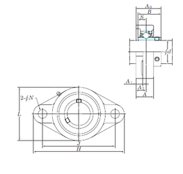 Width (mm) KOYO UCFL211 Bearing Units
