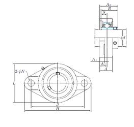95 mm x 120 mm x 13 mm Basic dynamic load rating (C) KOYO UCFL214-44 Bearing Units