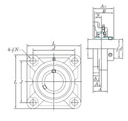 d KOYO UCFX07E Bearing Units
