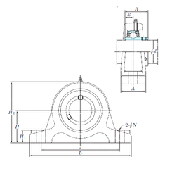 130 mm x 230 mm x 79,375 mm Bearing number KOYO UCIP326 Bearing Units