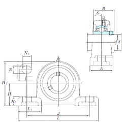 17 mm x 40 mm x 16 mm Size (mm) KOYO UCP208SC Bearing Units