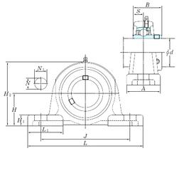 9 mm x 24 mm x 7 mm rb max. KOYO UCPX20-63 Bearing Units