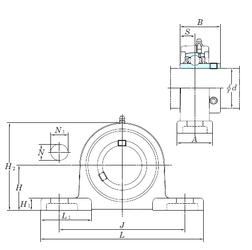 260 mm x 480 mm x 130 mm d KOYO UCSP207H1S6 Bearing Units