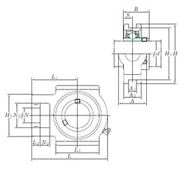 5 mm x 19 mm x 6 mm D KOYO UCTX14-44 Bearing Units