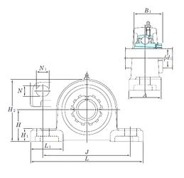 90 mm x 160 mm x 30 mm Weight KOYO UKP322SC Bearing Units