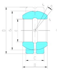160 mm x 240 mm x 38 mm Grease lub. LS GEZ76ES Plain Bearings