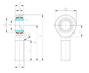 Basic dynamic load rating (C) LS SABP14S Plain Bearings