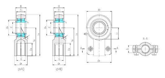 140 mm x 300 mm x 62 mm Size (mm) LS SIGEW80ES Plain Bearings