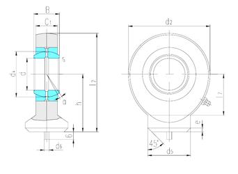 20 mm x 52 mm x 18 mm Outer Diameter (mm) LS SK15ES Plain Bearings