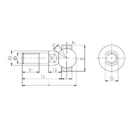 15 mm x 42 mm x 19 mm Weight LS SQD6 Plain Bearings