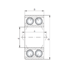 70 mm x 110 mm x 80 mm Inch – Metric Loyal 3219 Angular Contact Ball Bearings