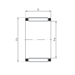Bore Diameter (mm) Loyal K150x160x46 Needle Roller Bearings