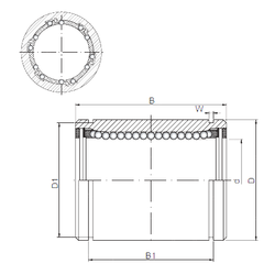 35 mm x 80 mm x 21 mm ra max. Loyal KB4080UU Linear Bearings