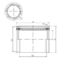 3 7/16 inch x 180 mm x 76 mm Width (mm) Loyal LM40AJ Linear Bearings