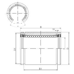 320 mm x 480 mm x 74 mm r3 min. Loyal LM40OP Linear Bearings