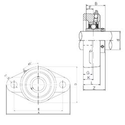 Bore Diameter (mm) Loyal UCFL319 Bearing Units