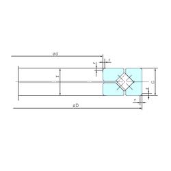 200 mm x 250 mm x 50 mm Outer Diameter (mm) NACHI 150XRN23 Thrust Roller Bearings