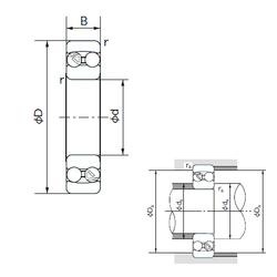 30 mm x 72 mm x 19 mm Rolling Element NACHI 2203 Self Aligning Ball Bearings