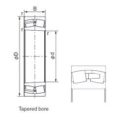 170 mm x 260 mm x 90 mm Calculation factor (Y1) NACHI 22338EK Cylindrical Roller Bearings