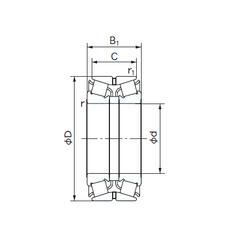 Width (mm) NACHI 280KBE031 Tapered Roller Bearings