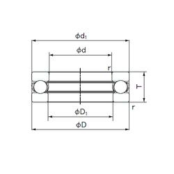 Outer Width (Bo) NACHI 51328 Thrust Ball Bearings