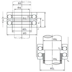 50 mm x 130 mm x 31 mm (Refer.)Mass(kg) NACHI 52410 Thrust Ball Bearings