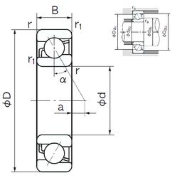 35 mm x 80 mm x 21 mm Outer Diameter (mm) NACHI 7007 Angular Contact Ball Bearings