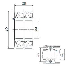 Designation FAG NACHI 7218DT Angular Contact Ball Bearings