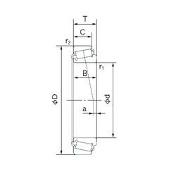530 mm x 710 mm x 243 mm dk NACHI H-E33208J Tapered Roller Bearings