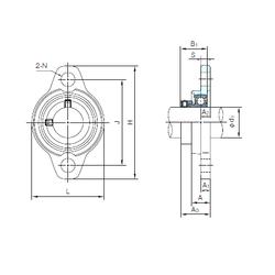 Db NACHI UFL003 Bearing Units