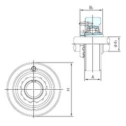 Bearing number NACHI UKC205+H2305 Bearing Units