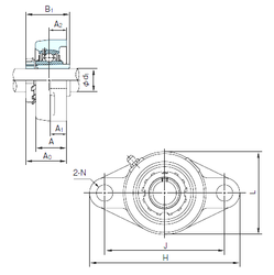 65 mm x 110 mm x 46 mm Brand NACHI UKFLX06+H2306 Bearing Units