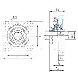 30 mm x 68 mm x 10 mm Weight NACHI UKFX10+H2310 Bearing Units