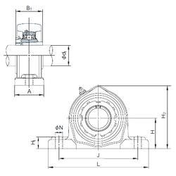 Bearing number NACHI UKPK213+H2313 Bearing Units