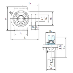 750 mm x 1090 mm x 195 mm Brand NACHI UKTX10+H2310 Bearing Units
