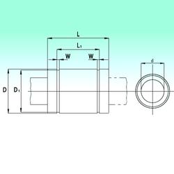 Bore Diameter (mm) NBS KB4080 Linear Bearings