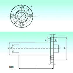 Manufacturer Name NBS KBFL 60 Linear Bearings