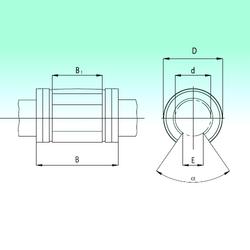 80 mm x 28 mm x 50 mm V NBS KNO2045-PP Linear Bearings