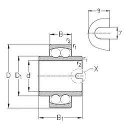 50 mm x 90 mm x 20 mm Bore Diameter (mm) NKE 11306 Self Aligning Ball Bearings