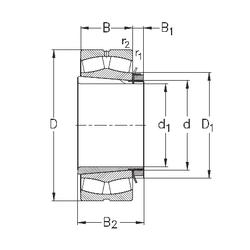 60 mm x 150 mm x 17,5 mm H2 NKE 22256-K-MB-W33+OH3156-H Spherical Roller Bearings