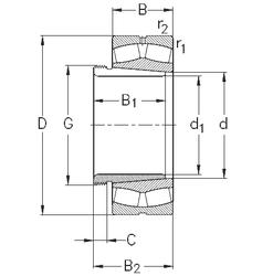 190 mm x 270 mm x 200 mm Brand NKE 22322-E-K-W33+AHX2322 Spherical Roller Bearings